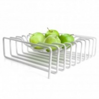 Block Design White Wire Fruit Bowl