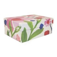 Caroline Gardner Blue & Pink Floral Medium Gift Box