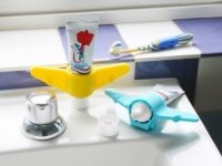 Kids Silicone Aeroplane Toothpaste Holder