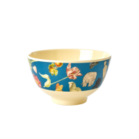Blue Art Print Small Melamine Bowl Rice DK