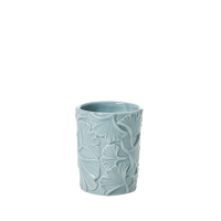 Ceramic Toothbrush Holder Embossed Petal In Sky Blue Rice DK
