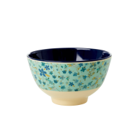 Blue Floral Print Small Melamine Bowl Rice DK