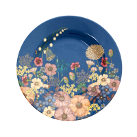 Flower Collage Print Melamine Side Plate Rice DK