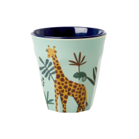 Kids Small Melamine Cup Blue Jungle Print Rice DK[1]