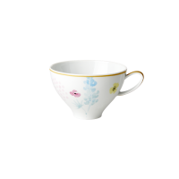 Porcelain Teacup With Blue Lupin Print By Rice DK