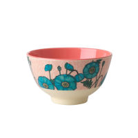 Blue Poppy Print Small Melamine Bowl Rice DK