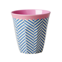 Rice DK Blue Sailor Stripe Melamine Cup