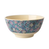 Small Blue Flower Print Melamine Bowl Rice DK