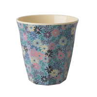 Small Blue Flower Print Melamine Cup Rice DK