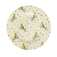 Bud Print Melamine Side Plate or Lunch Plate By Rice DK