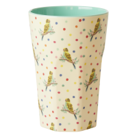 Budgie & Spot Print Melamine Tall Cup By Rice DK