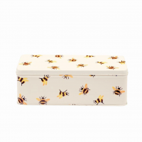 Bumblebee Print Long Deep Storage Tin By Emma Bridgewater