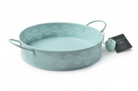 Sophie Conran Round Enamel Tray in Duck Egg Blue