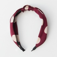 Burgundy Polka Dot Headband By Caroline Gardner