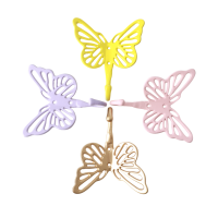 Butterfly Shaped Coloured Metal Hooks By Rice DK