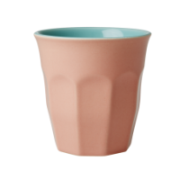 Coral & Aqua Two Tone Ceramic Cup By Rice DK