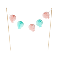 Cake Topper Balloon Bunting in Pink & Blue By Rice DK