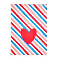 Candy Stripe Print Cotton Tea Towel By Rice DK