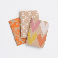 Caroline Gardner Set of 3 Notebooks Layered Heart, Geo, Ditsy