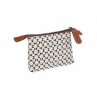 Caroline Gardner Coin Purse Black & White Geo Print