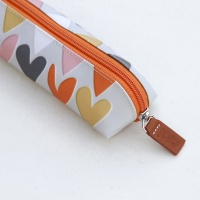 Layered Hearts Pencil Case by Caroline Gardner