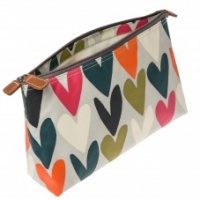 Caroline Gardner Heart Print Wash Bag