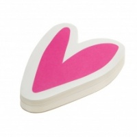 Caroline Gardner Pink Heart Shaped Note Pad