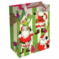 Caroline Gardner Large Christmas Santa Striped Gift Bag