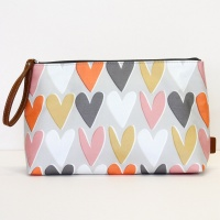 Heart Print Wash Bag By Caroline Gardner