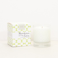 Mandarin & Lime Scented Boxed Candle By Caroline Gardner