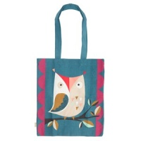 Caroline Gardner Colourful Canvas Bag Muchly Lovely Owl Print