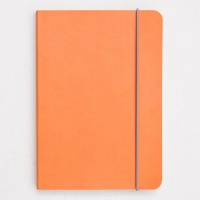 Caroline Gardner Orange Heart Print A5 Notebook