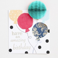 POMPOM Have An Amazing Birthday Balloons Card by Caroline Gardner