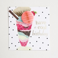 POMPOM Have a Cool Birthday Ice Cream Sundae Card by Caroline Gardner