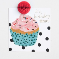 POMPOM Its Birthday Time Cupcake Card by Caroline Gardner