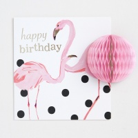 POMPOM Happy Birthday Flamingo Card by Caroline Gardner