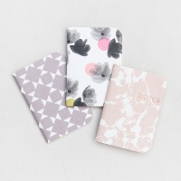 Caroline Gardner Set of 3 Notebooks Rose Tinted Collection
