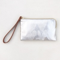 Caroline Gardner Silver Heart Embossed Purse