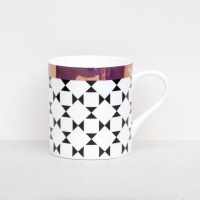 Caroline Gardner Black & White Geo Print China Mug