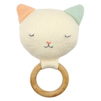 Cat Shaped Baby Rattle By Meri Meri