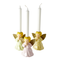 Ceramic Christmas Angel Candle Holders By Rice DK