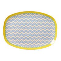 Chevron Print Melamine Rectangular Plate By Rice DK