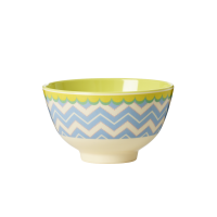 Chevron Print Melamine Small Bowl By Rice DK