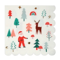 Colourful Christmas Napkins By Meri Meri