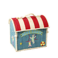 Small Circus Style Raffia Bag By Rice DK
