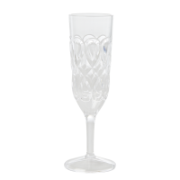 Clear Swirl Embossed Acrylic Champagne Glass Rice DK