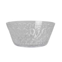 Clear Swirl Embossed Acrylic Serving Bowl Rice DK