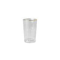Clear Acrylic Small Tumbler Gold Rim Rice DK