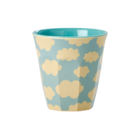 Kids Small Melamine Cup  Blue Cloud Print by Rice DK