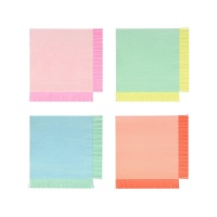 Bright Colourful Fringed Large Paper Napkins Meri Meri
